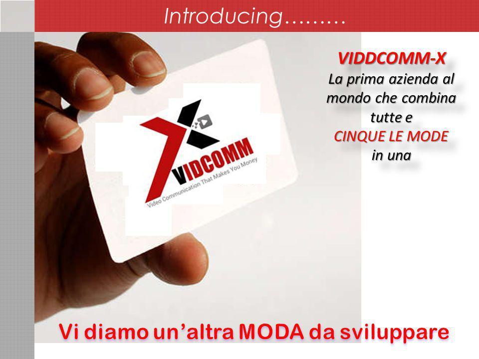 VIDDCOMM-X La prima azienda al mondo che combina tutte e CINQUE LE MODE in una VIDDCOMM-X La prima azienda al mondo che combina tutte e CINQUE LE MODE in una Introducing………