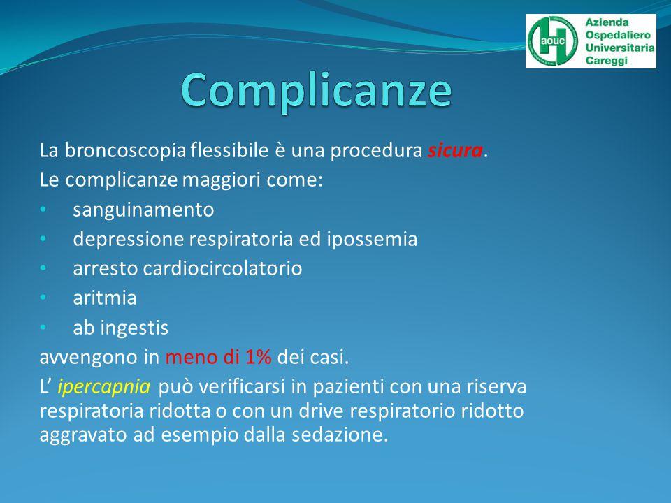 La broncoscopia flessibile è una procedura sicura.