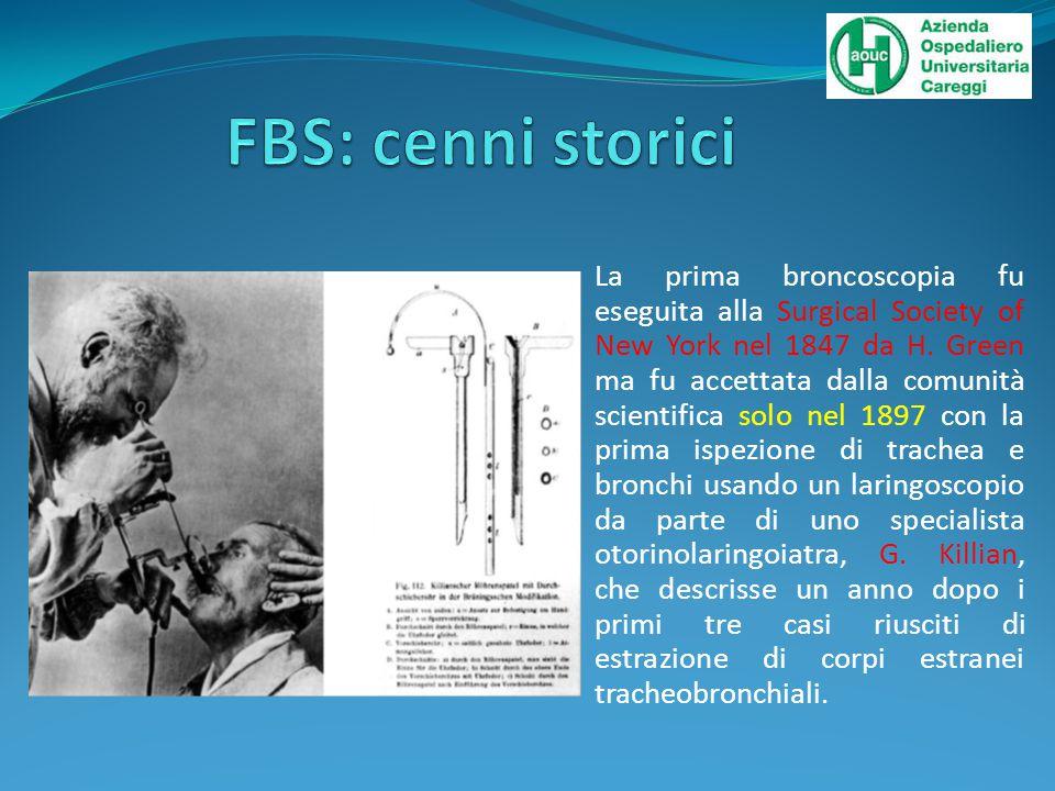 Nel 1905 Chevalier Jackson introdusse la broncoscopia rigida nell'impiego clinico come strumento diagnostico.