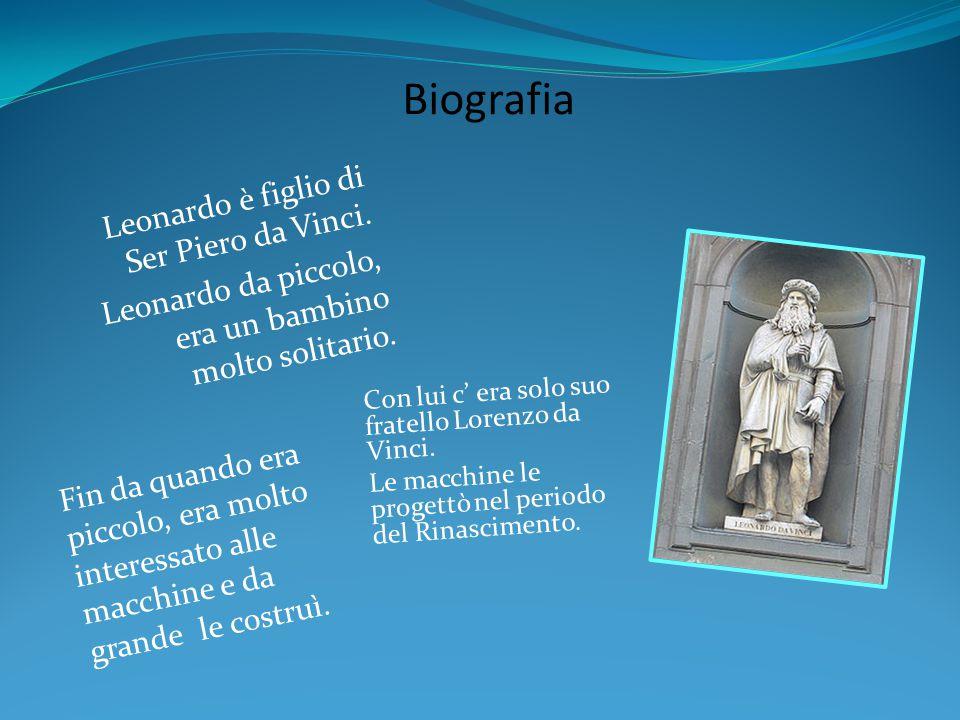 Leonardo è figlio di Ser Piero da Vinci. Leonardo da piccolo, era un bambino molto solitario. Biografia Con lui c' era solo suo fratello Lorenzo da Vi