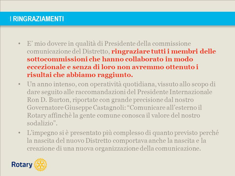 1° Congresso Distretto 2072 Governatore 2013-2014 Giuseppe Castagnoli Sabato 14 Domenica 15 Giugno 2014 Si tratta di 7 fascicoli interamente dedicati alla comunicazione.