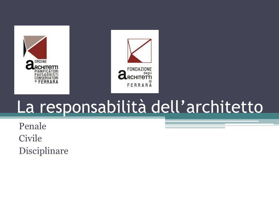 La responsabilità dell'architetto Penale Civile Disciplinare