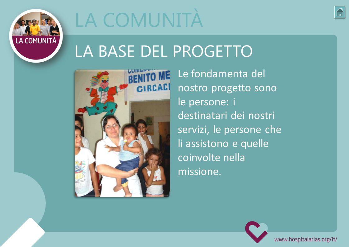 Le fondamenta del nostro progetto sono le persone: i destinatari dei nostri servizi, le persone che li assistono e quelle coinvolte nella missione.