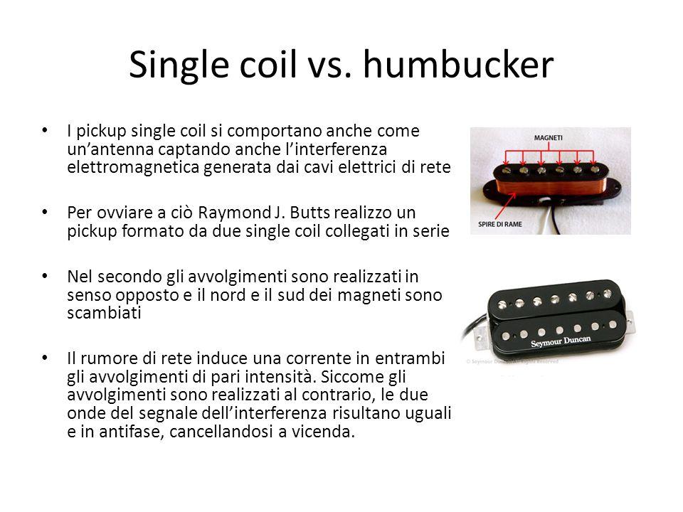 Single coil vs. humbucker I pickup single coil si comportano anche come un'antenna captando anche l'interferenza elettromagnetica generata dai cavi el