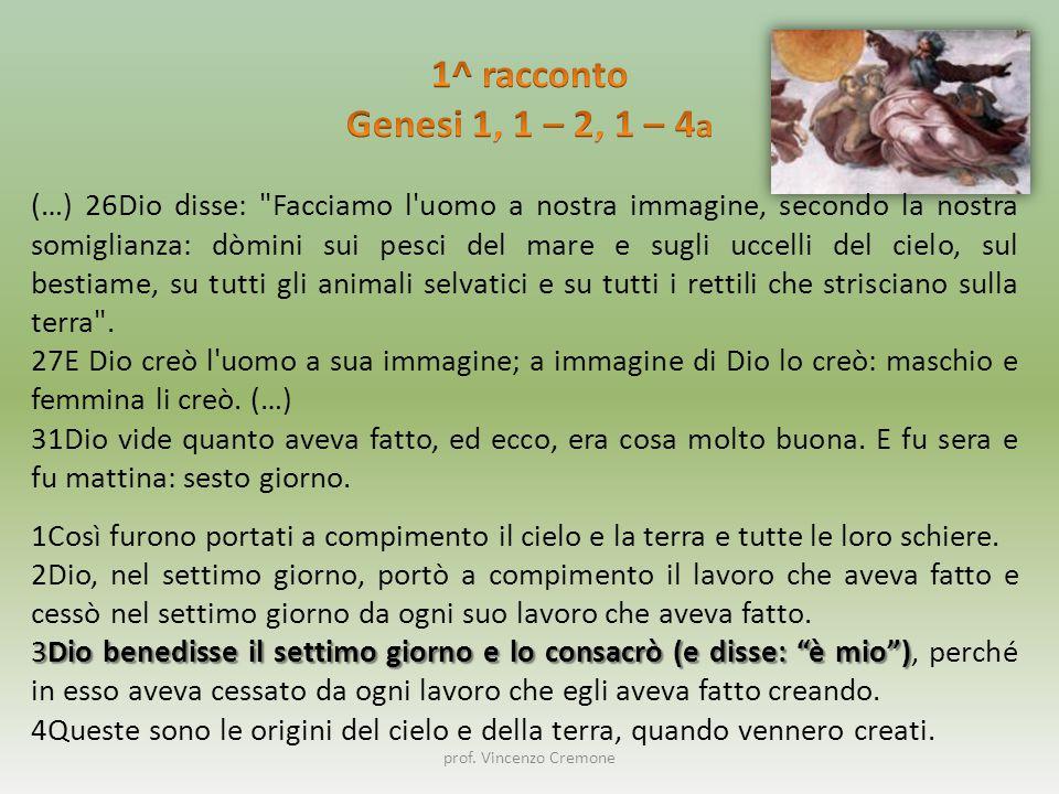 prof. Vincenzo Cremone (…) 26Dio disse: