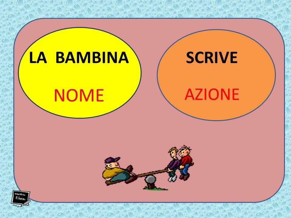 LA BAMBINA NOME SCRIVE AZIONE