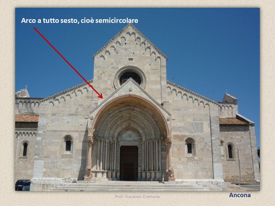Prof. Vincenzo Cremone Ancona Arco a tutto sesto, cioè semicircolare