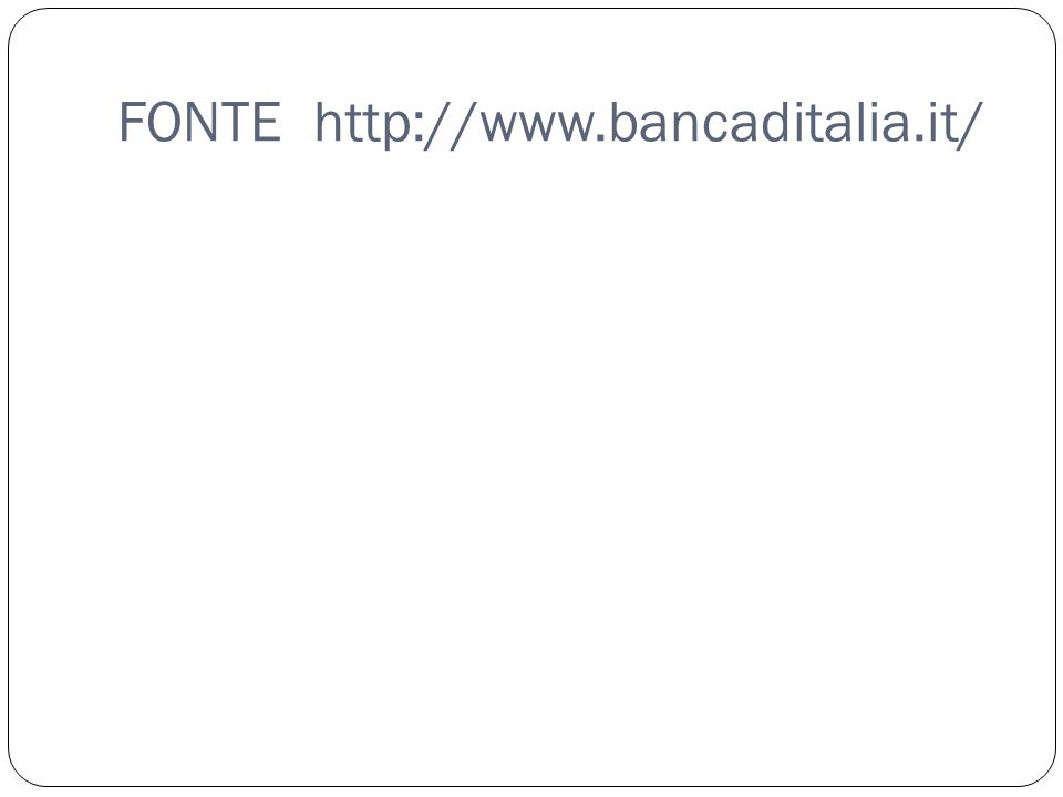 FONTE http://www.bancaditalia.it/