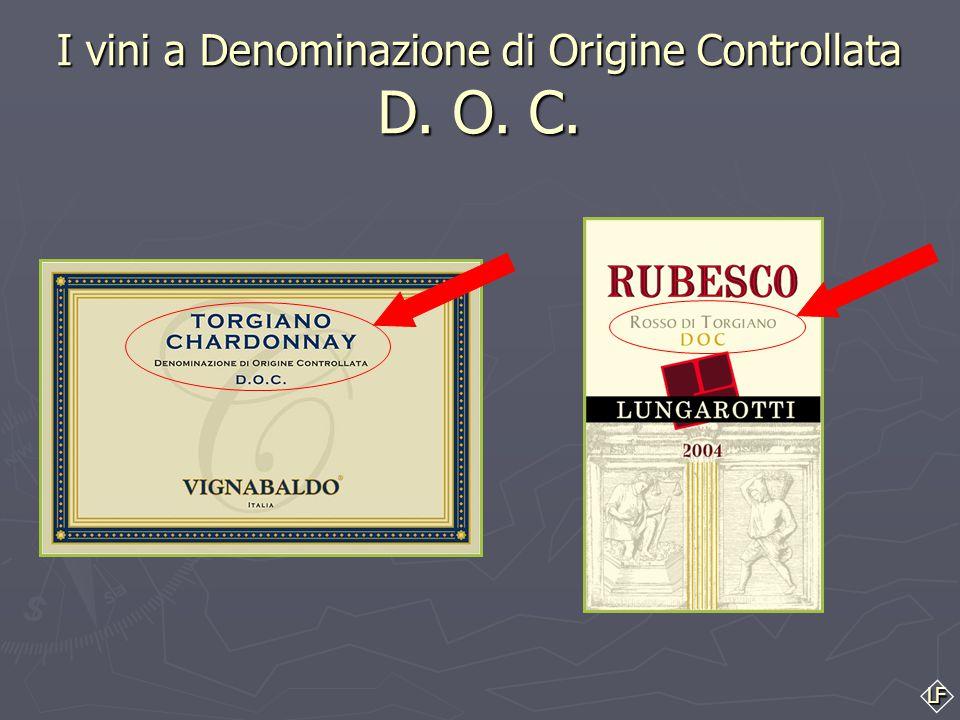 LF ► ► Per esempio: l'area indicata in rosso, rappresenta la zona vinicola TORGIANO, una tra le più importanti dell'Umbria ► ► I vini prodotti all'int