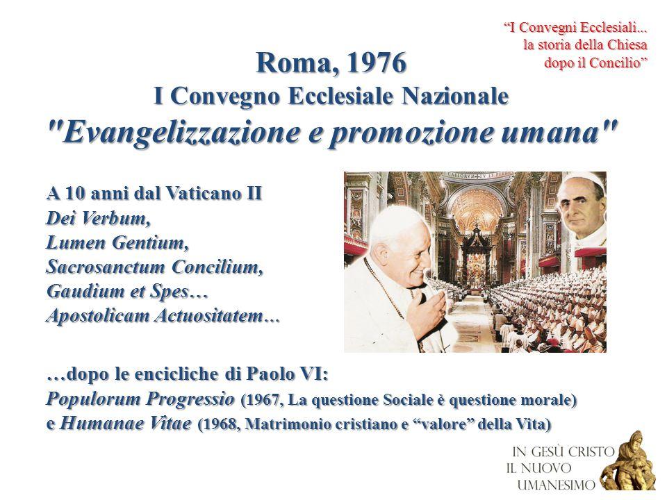 Roma, 1976 I Convegno Ecclesiale Nazionale