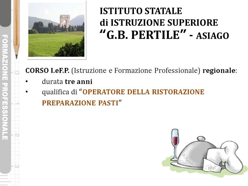 """CORSO I.eF.P. (Istruzione e Formazione Professionale) regionale: durata tre anni qualifica di """"OPERATORE DELLA RISTORAZIONE PREPARAZIONE PASTI"""" ISTITU"""