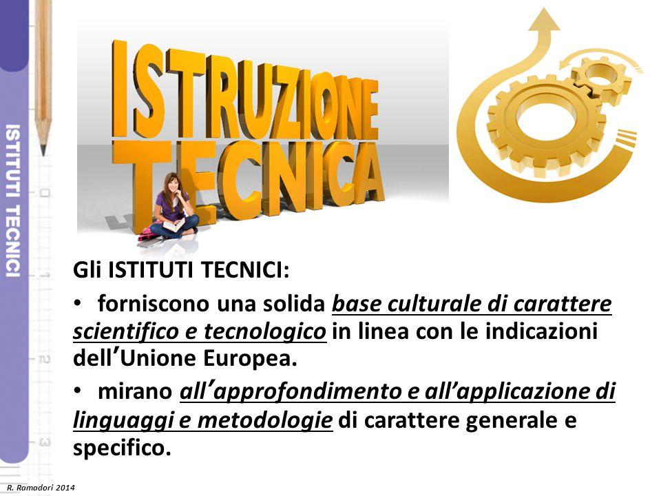 Gli ISTITUTI TECNICI: forniscono una solida base culturale di carattere scientifico e tecnologico in linea con le indicazioni dell'Unione Europea. mir