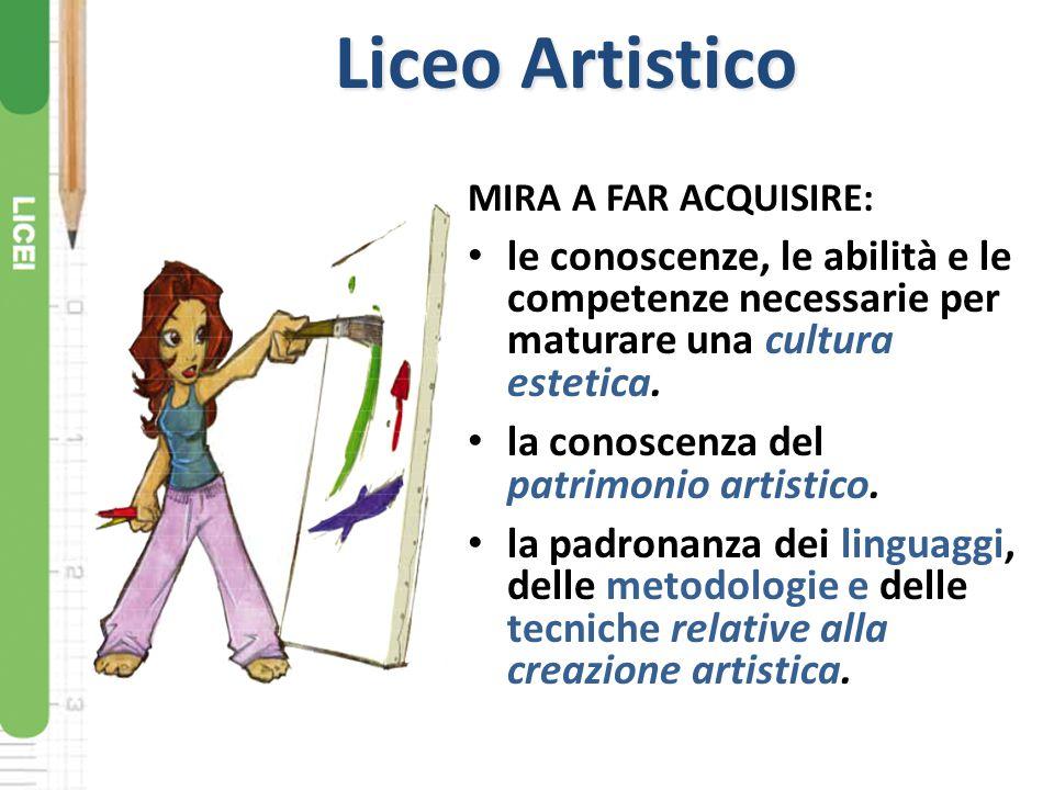 Liceo Classico MIRA A FAR ACQUISIRE: le conoscenze, le abilità e le competenze necessarie allo studio della civiltà classica e umanistica.