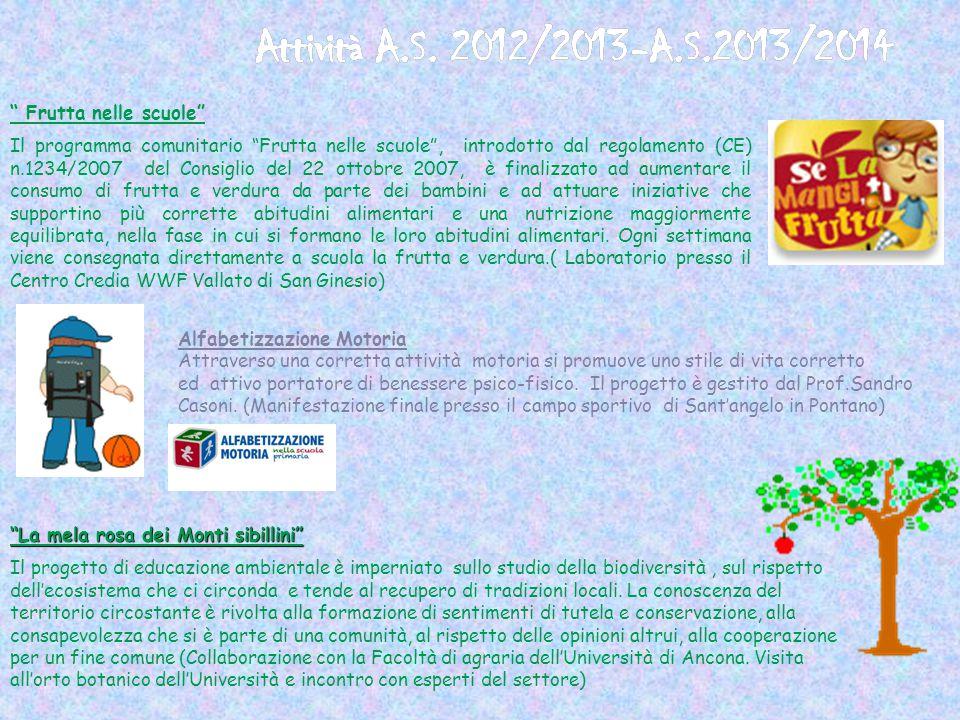 """"""" Frutta nelle scuole"""" Il programma comunitario """"Frutta nelle scuole"""", introdotto dal regolamento (CE) n.1234/2007 del Consiglio del 22 ottobre 2007,"""