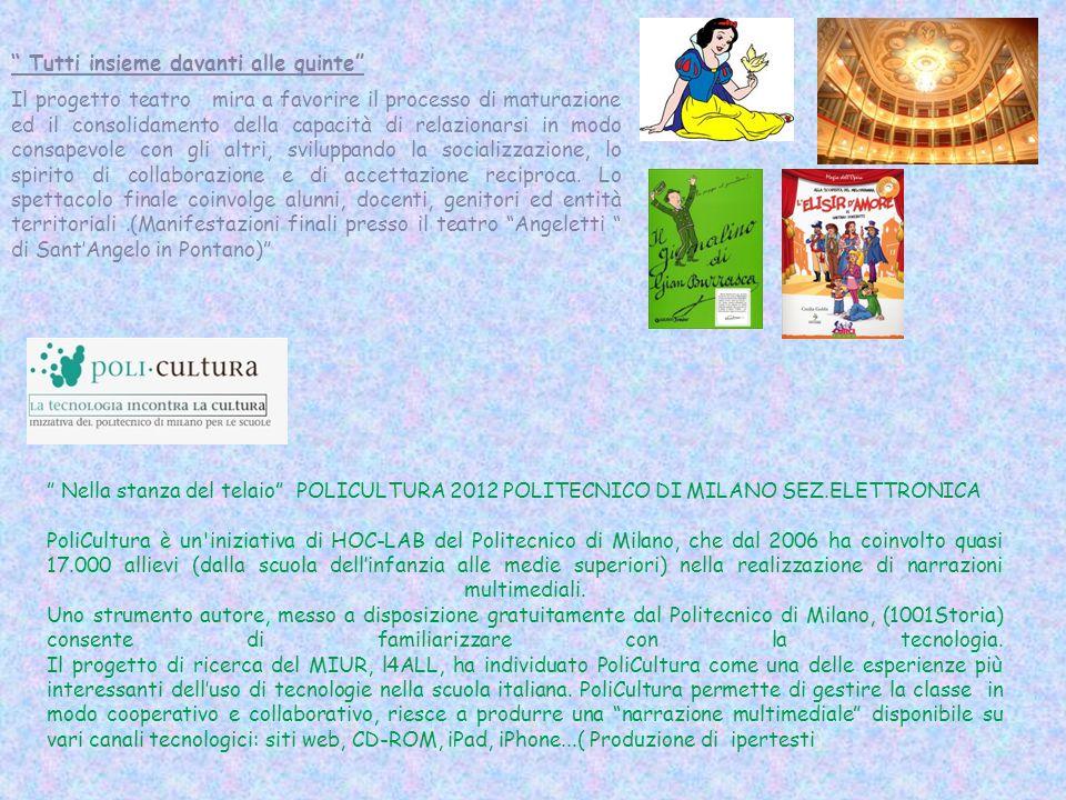 """"""" Nella stanza del telaio"""" POLICULTURA 2012 POLITECNICO DI MILANO SEZ.ELETTRONICA PoliCultura è un'iniziativa di HOC-LAB del Politecnico di Milano, ch"""