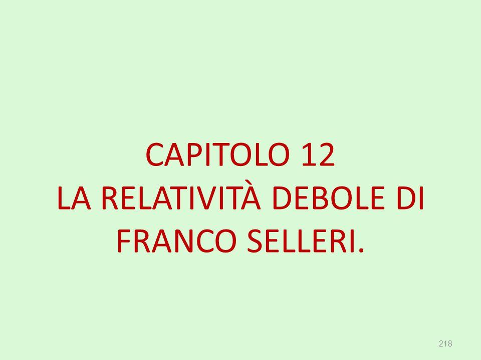 CAPITOLO 12 LA RELATIVITÀ DEBOLE DI FRANCO SELLERI. 218