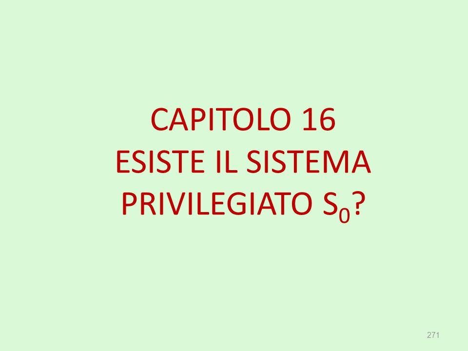 CAPITOLO 16 ESISTE IL SISTEMA PRIVILEGIATO S 0 ? 271