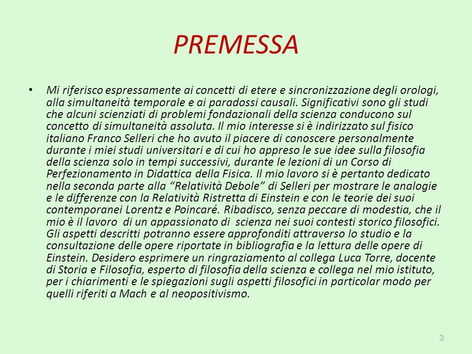 CAPITOLO 9 GENESI DEL PRINCIPIO DI RELATIVITÀ. 134