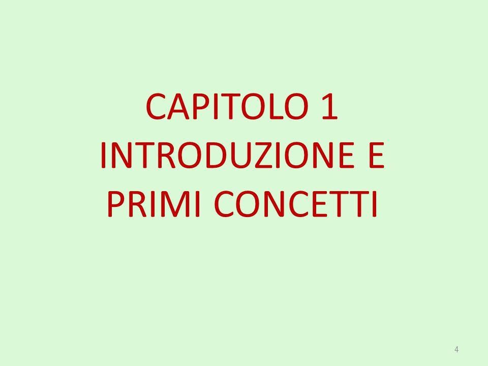 CAPITOLO 1 INTRODUZIONE E PRIMI CONCETTI 4