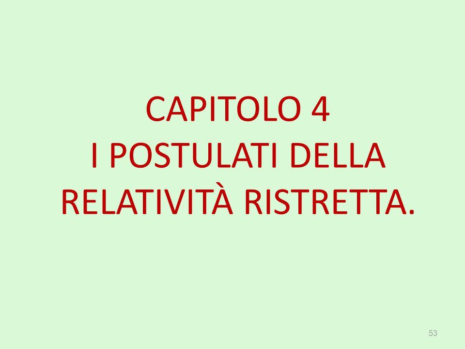 CAPITOLO 4 I POSTULATI DELLA RELATIVITÀ RISTRETTA. 53