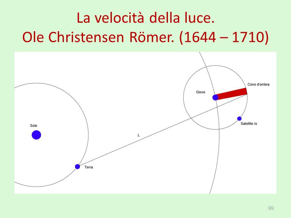 La velocità della luce. Ole Christensen Römer. (1644 – 1710) 99
