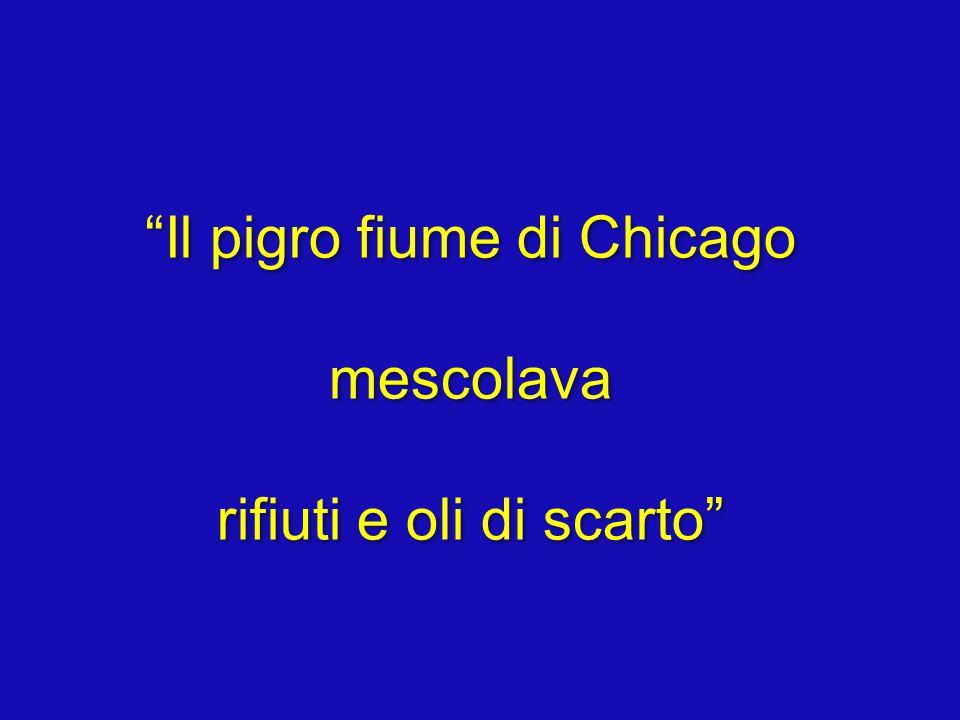 Il pigro fiume di Chicago mescolava rifiuti e oli di scarto Il pigro fiume di Chicago mescolava rifiuti e oli di scarto
