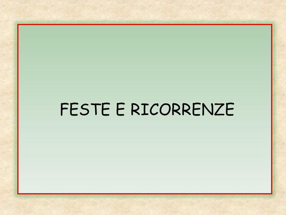 FESTE E RICORRENZE