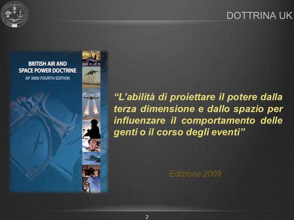 """DOTTRINA UK Edizione 2009 """"L'abilità di proiettare il potere dalla terza dimensione e dallo spazio per influenzare il comportamento delle genti o il c"""