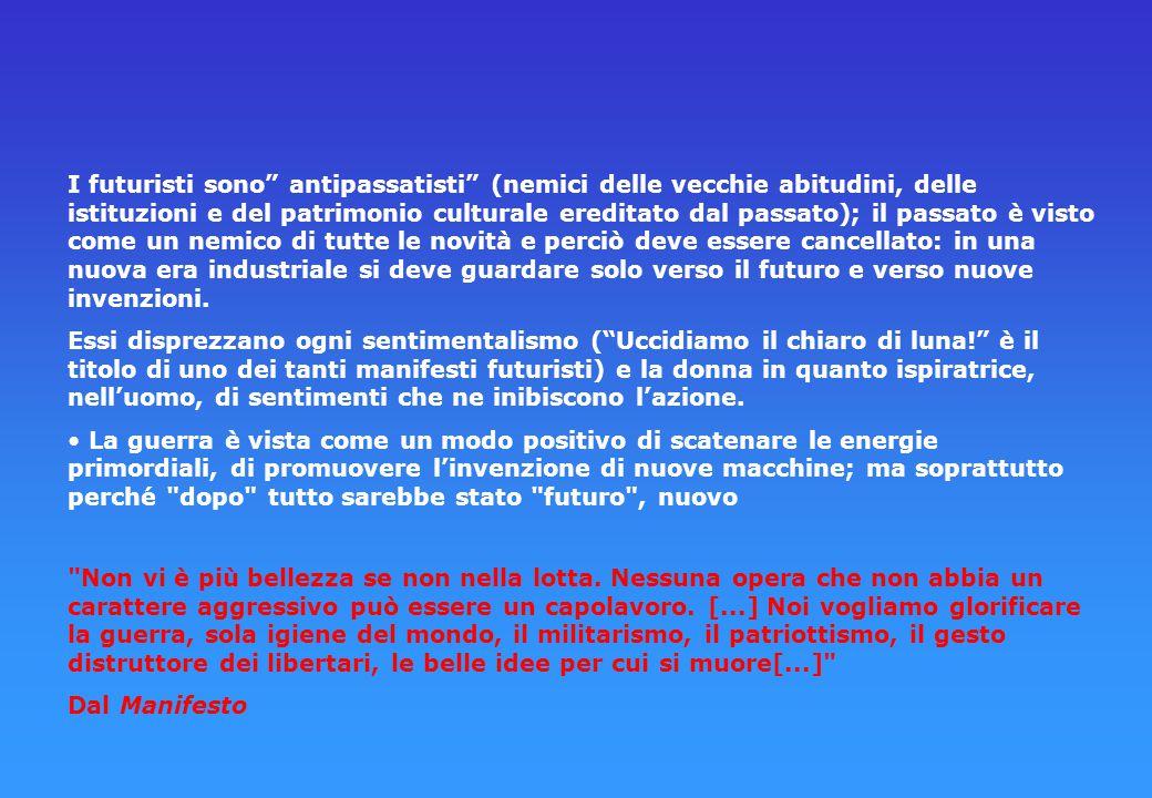 MANIFESTO DELLA DONNA FUTURISTA Risposta a F. T. Marinetti di Valentine de Saint-Point 1912 È assurdo dividere l'umanità in donne e uomini; essa è com