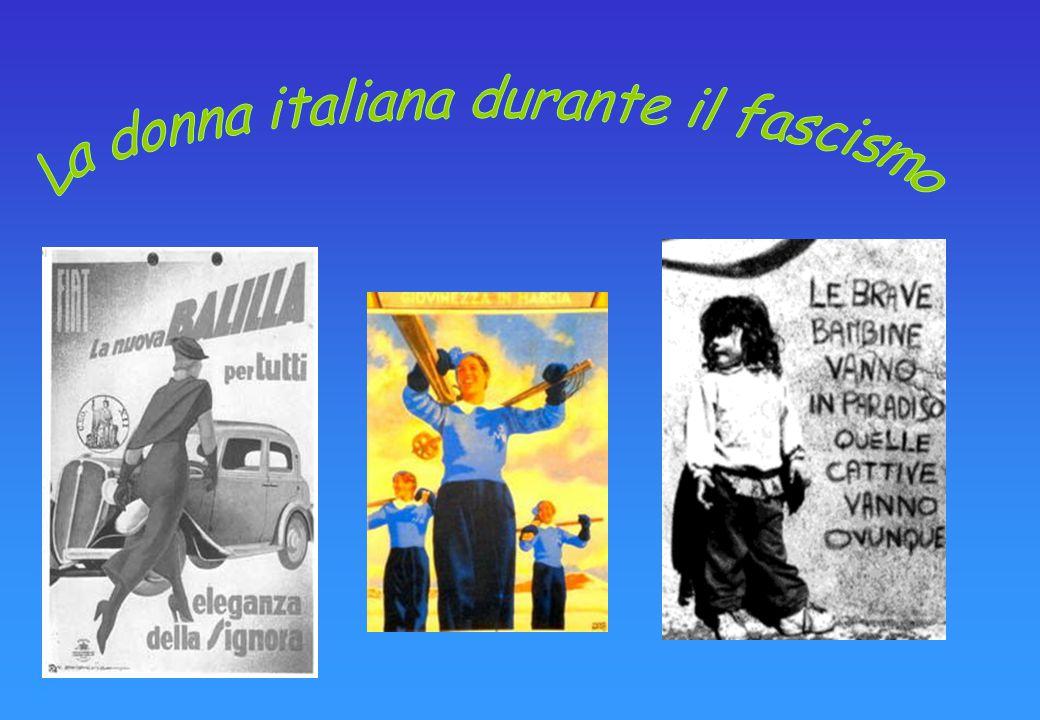 Le donne durante il periodo fascista