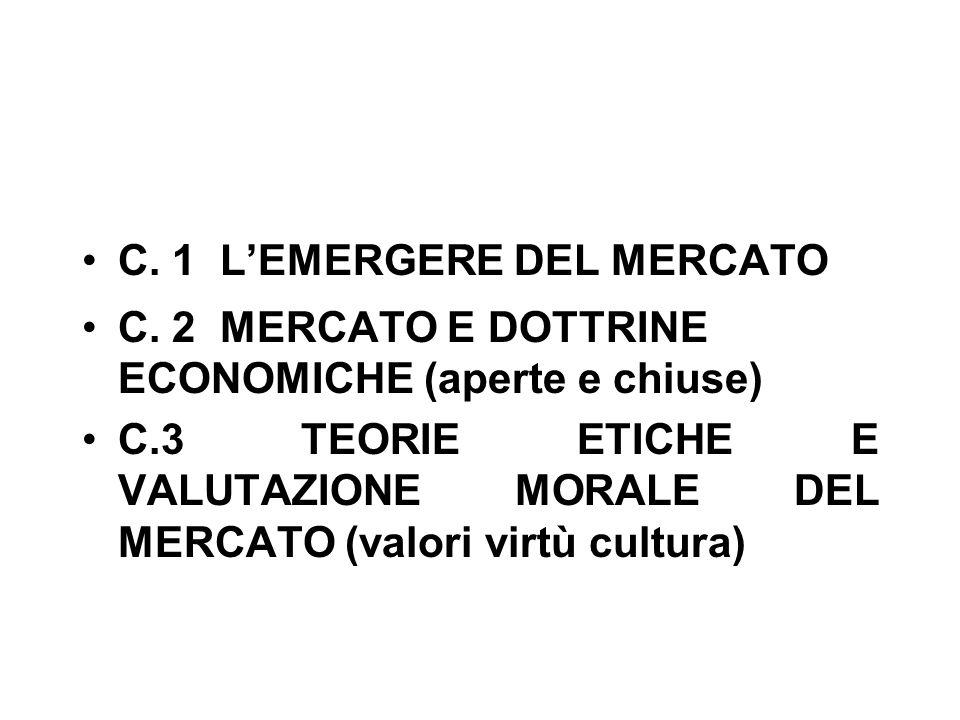 C. 1 L'EMERGERE DEL MERCATO C.