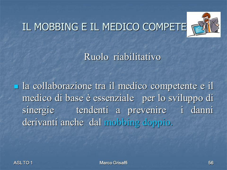 Ruolo riabilitativo Ruolo riabilitativo la collaborazione tra il medico competente e il medico di base è essenziale per lo sviluppo di sinergie tenden