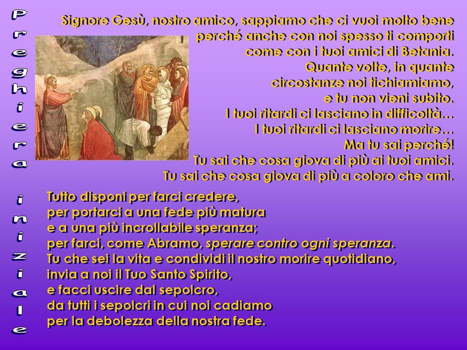 Con morte e la risurrezione di Lazzaro Gesù aiuta l'uomo a stare di fronte alla morte, guardandola in faccia e scrutandone il mistero.