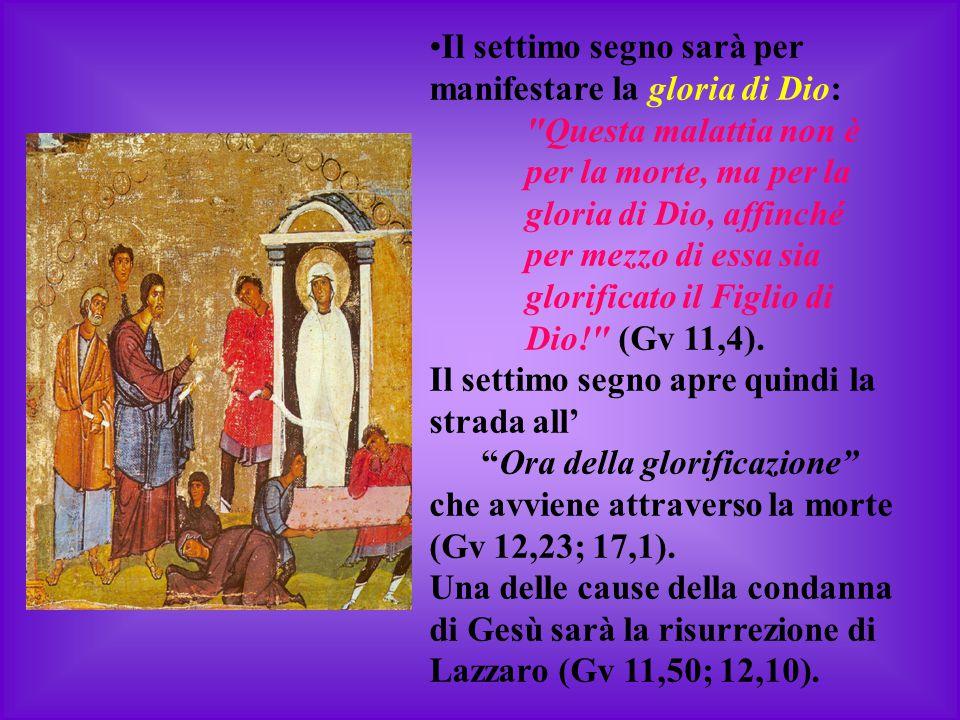 Il settimo segno sarà per manifestare la gloria di Dio: