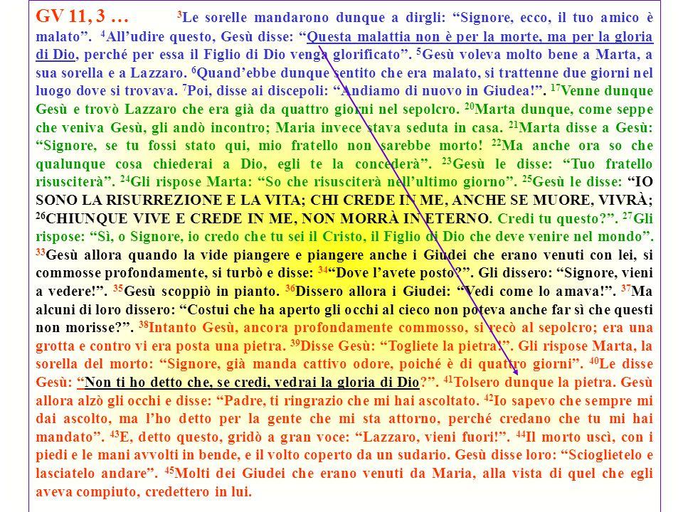 v.43: «…a gran voce esclamò: Lazzaro, vieni fuori».