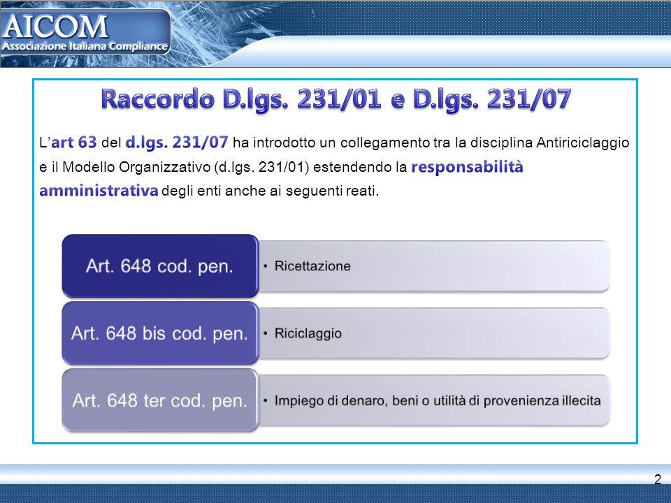 3 Reati contro la PA; (art.24 - 25) Criminalità informatica (art.