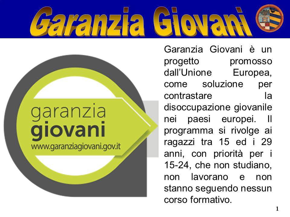 1 Garanzia Giovani è un progetto promosso dall'Unione Europea, come soluzione per contrastare la disoccupazione giovanile nei paesi europei.