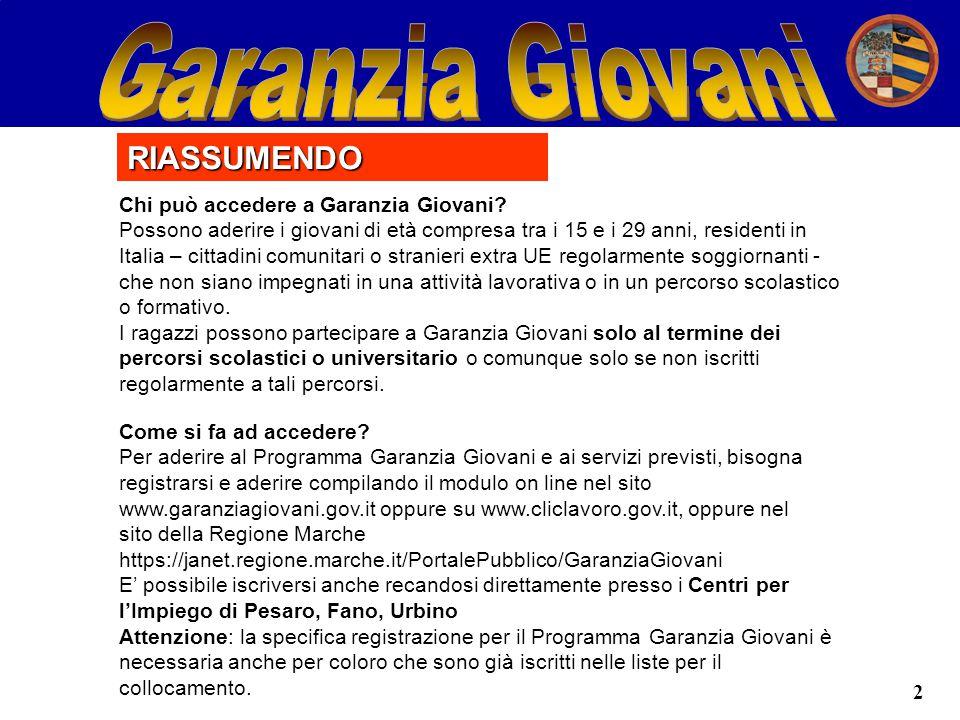 2 Chi può accedere a Garanzia Giovani.
