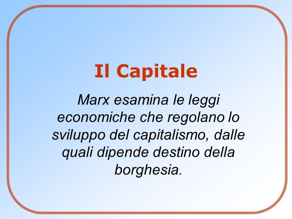 Marx esamina le leggi economiche che regolano lo sviluppo del capitalismo, dalle quali dipende destino della borghesia. Il Capitale