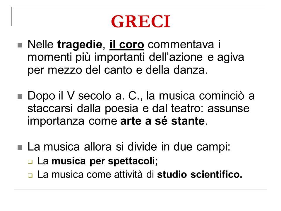 Nelle tragedie, il coro commentava i momenti più importanti dell'azione e agiva per mezzo del canto e della danza.
