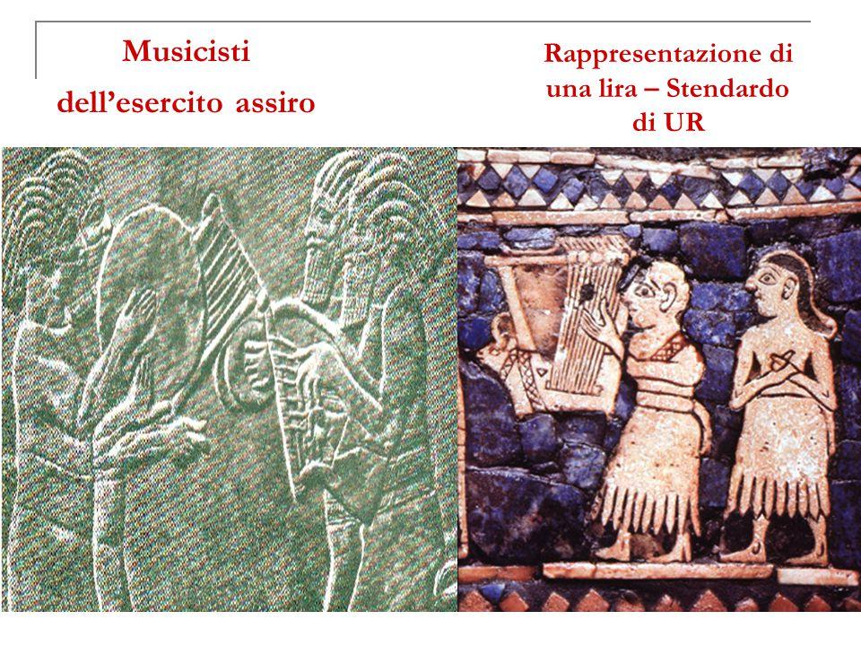 Musicisti dell'esercito assiro Rappresentazione di una lira – Stendardo di UR
