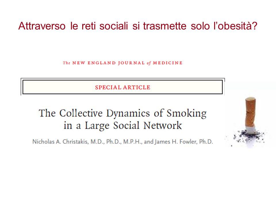 Attraverso le reti sociali si trasmette solo l'obesità