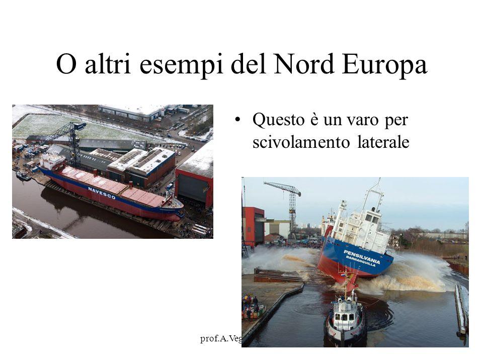 prof.A.Vega - il porto14 O altri esempi del Nord Europa Questo è un varo per scivolamento laterale