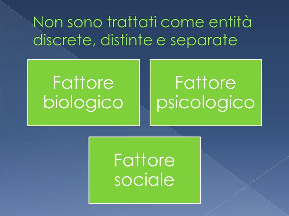 Fattore biologico Fattore psicologico Fattore sociale