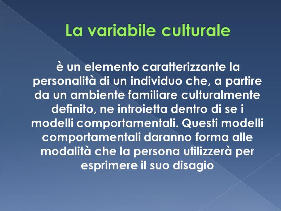 è un elemento caratterizzante la personalità di un individuo che, a partire da un ambiente familiare culturalmente definito, ne introietta dentro di s