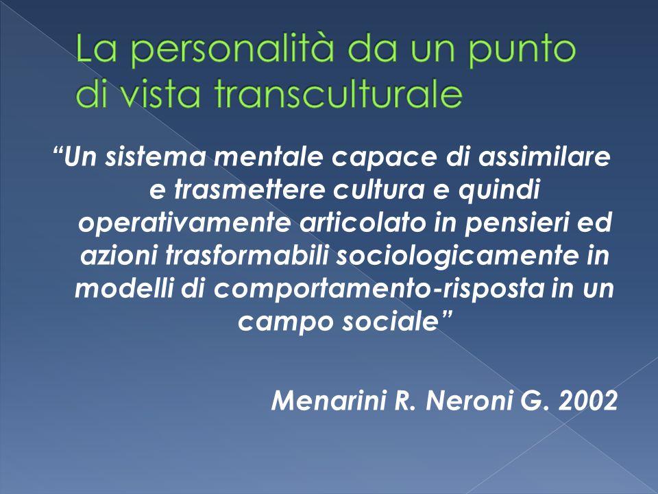 """""""Un sistema mentale capace di assimilare e trasmettere cultura e quindi operativamente articolato in pensieri ed azioni trasformabili sociologicamente"""