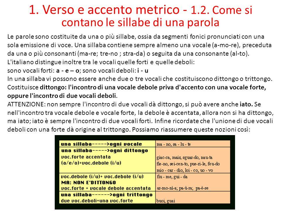 1.Verso e accento metrico - 1.3.
