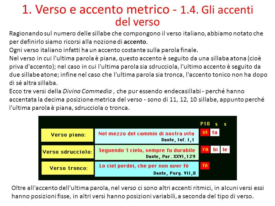 1.Verso e accento metrico - 1.5.