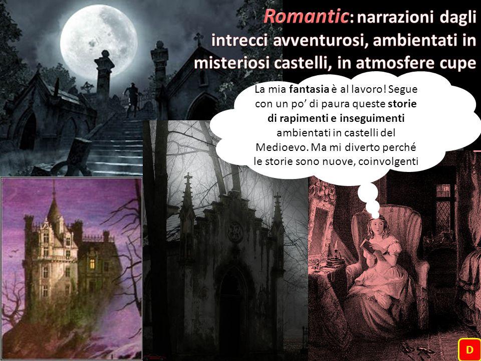 La mia fantasia è al lavoro! Segue con un po' di paura queste storie di rapimenti e inseguimenti ambientati in castelli del Medioevo. Ma mi diverto pe