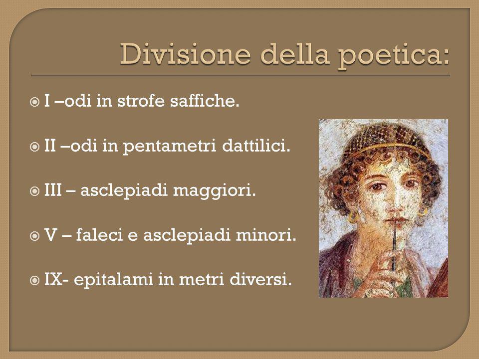 Il tema principale della poetica di Saffo è l'AMORE, considerato come valore assoluto.